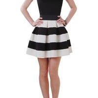 Carrie Skirt - Striped Skirt - Humblechic.com