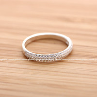 girlsluv.it - sterling silver, simple CRYSTALS band
