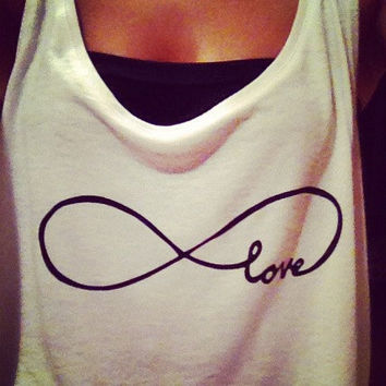 Infinity Love Crop Top by SkinniRags on Etsy