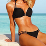 Push-up Bandeau Top & Strappy String Bottom