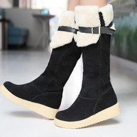 New Warm Womens Ladies Snow Boot Tall Knee High Leg Boots Shoes Winter British 