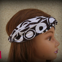 Polka dots Turban Headband Hair Turban Head Scarf Accessories Hair Headband Stretch Twisted Turban Headband - By PIYOYOa