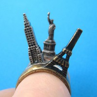 SALE - Unique Iconic Landmarks 5 Piece Ring Set in SilverSALE - Unique