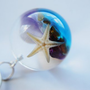 The Mermaid's Necklace Starfish Nautical Globe Necklace Resin Jewelry Sea Semi Precious Stones Ocean from NaturalPrettyThings