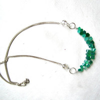 Sparkling Emerald Green Crystal Quartz Necklace
