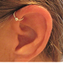 "No Piercing Handmade Ear Cuff Helix Cuff ""Captive Ball"" 1 Cuff Color Choices"