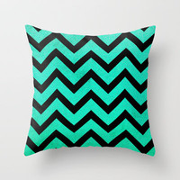 Peppermint Chevron Throw Pillow by M Studio