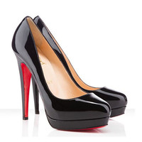 Christian Louboutin Alti Pump 140mm Patent Leather Black
