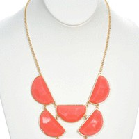 Top Tier Necklace in Coral - New Arrivals