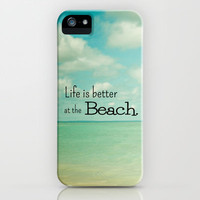 Life is Better at the Beach iPhone Case by Olivia Joy StClaire