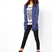 ASOS Boyfriend Cardigan In Denim Twist at asos.com