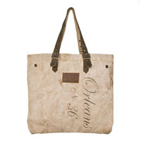 Fatigued Canvas Tote - Small | Rain Collection
