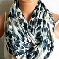 Womens Scarves,Loop Scarf,Circle Scarf, Black, White, Beige chiffon fabric Scarf,Cowl Scarf,Nomad Cowl..Black, White, Red, Eternity Scarf
