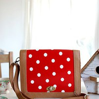 Spot On Polka Dot Purse, Red