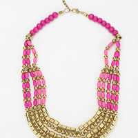 Layered Ombre Bib Necklace
