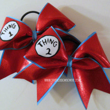 Thingy 1 and Thingy 2 Cheer Bow Hair Bow by SparkleBowsCheer