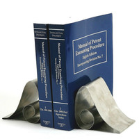 Stainless Steel Swirl Book Ends -Eco friendly decorations for your home.