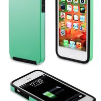 Acase iPhone 5 case - Superleggera PRO Dual Layer Protection case (Coral Green/Black)