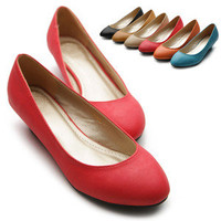 ollio Womens Ballet Flats Loafers Wedge Low Heels Multi Colored Shoes