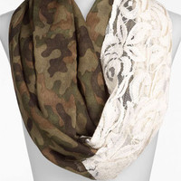 BP. Camo &amp; Lace Circle Scarf | Nordstrom