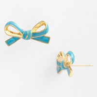 kate spade new york &#x27;skinny mini&#x27; bow stud earrings | Nordstrom