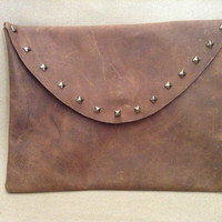 Genuine buffalo leather iPad case