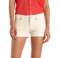 Allover Crochet Lace Short: Charlotte Russe