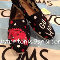 Arkansas Razorbacks Custom TOMS with Polka Dots
