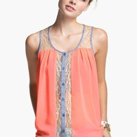 Lush Button Front Tank Top (Juniors) | Nordstrom