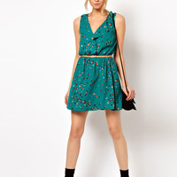 Oasis Marble Print Dress at asos.com