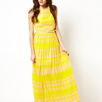 French Connection London Rock Stripe Maxi Dress at asos.com