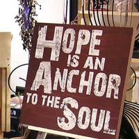 Fab Five Birthday Sale Hope is an Anchor to the Soul, Expressive Word Canvas