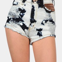 Necessary Clothing - Bleached Bum Shorts - Blue