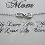 Mothers Day Necklace, Mothers Day Gift,  Infinity Necklace