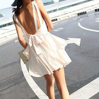 2013 Womens GorgeousT-shirt Girl Lady  Party Evening Cocktail Halter Dress Bow