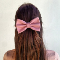 Light pink BIG hair bow (S-N-002)