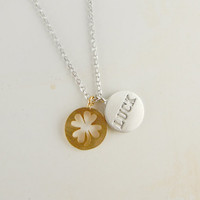 Luck necklace with clover charm
