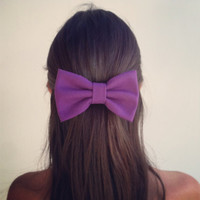 BIG Purple hair bow (S-N-002)