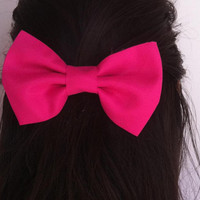 Pink  bow BIG hair bow (S-N-002)