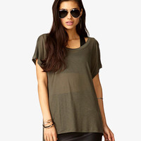 Burnout Striped Dolman Tee