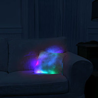 ThinkGeek :: Glowing Moonlight Cushion