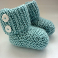 Knitting Pattern Baby Boots pdf MARLOW Instant Download