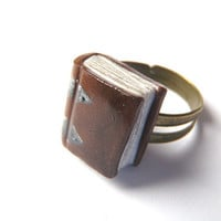Ancient Book Ring - Book Jewelry by Coryographies (Made to Order)