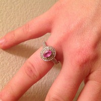 Have You Seen the Ring?: Pink Sapphire diamond ring