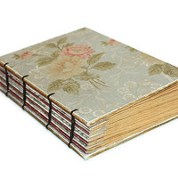 Romantic Rose Coptic Bound Journal by Thenibandquill on Etsy