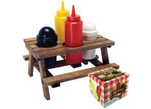 RETRO PICNIC TABLE CONDIMENT SET