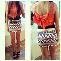 Prints &amp; Patterns Mini Skirt from Monica&#x27;s Closet Essentials