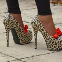 Leopard Cheetah print high heel shoe - High Heel Shoes & Ankle Boots - Heels - Feminine Outfits, Corsets, Leather Wear â?? Tout Ensemble â?? Manchester, UK