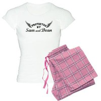 SUPERNATURAL Sam and Dean gray Women's Light Pajam from SUPERNATURAL Fan - Shirts at Other Peoples T-Shirts | See t-shirts other people are creating & wearing.