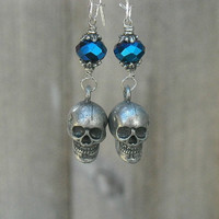 Skull Earrings, Gothic Earrings, Goth Skull Earrings,
